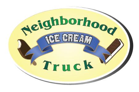 Neighborhood Ice Cream Truck Logo